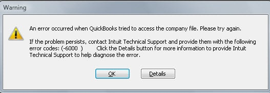 Quickbook Error 6000