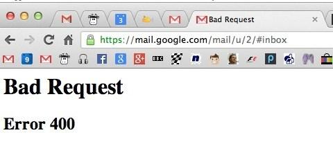 Gmail Error 400