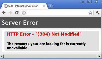 HTTP Error code304