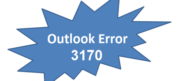 Error code 3170 Outlook for Mac