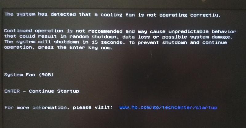 Hp laptop error 90b