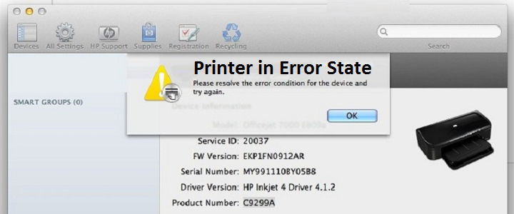 Lexmark Printer in an Error State