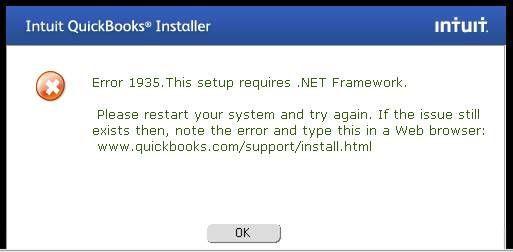 Error 1935 Quickbooks install