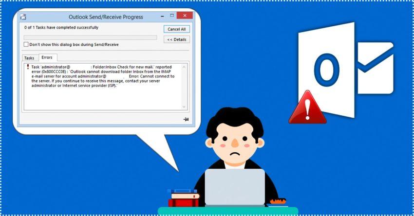 Email error 0x800ccc0e