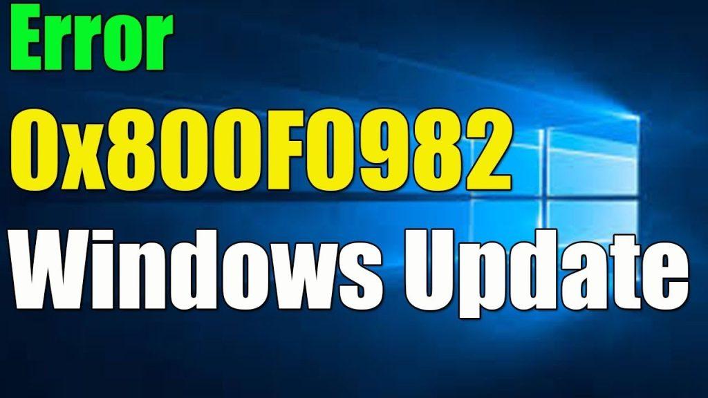 Windows 10 Error 0x800f0982