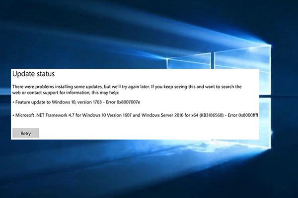 Windows Update Error 0x8007007e