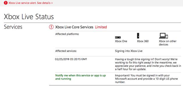 Xbox Error Code0x80072efd
