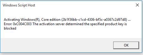 Windows Error Code 0xc004c003