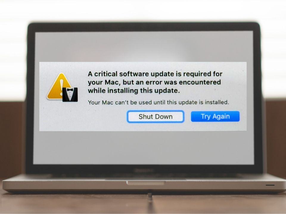 Mac error after update