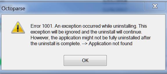 Install error 1001