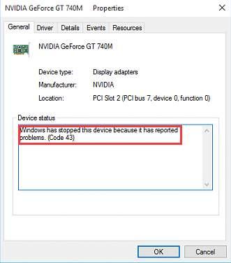 laptop bluetooth error code 43
