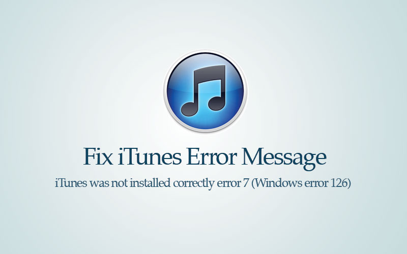 iTunes error 7 Mac