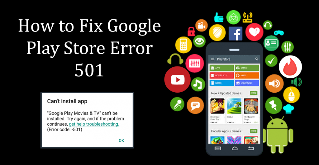 What is google play error 501