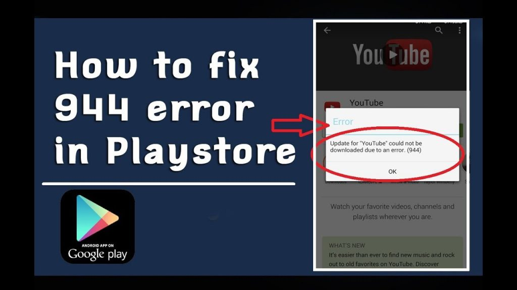 What is google play error 944