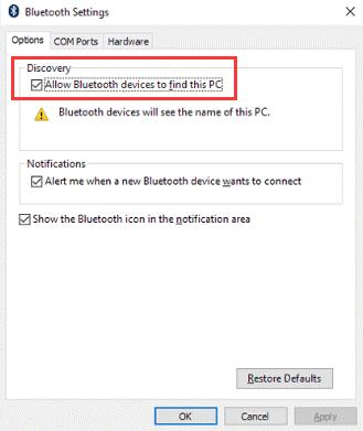 Bluetooth Audio Error