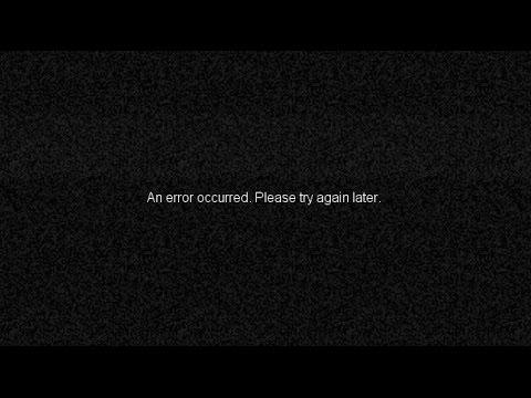 Youtube error occurred