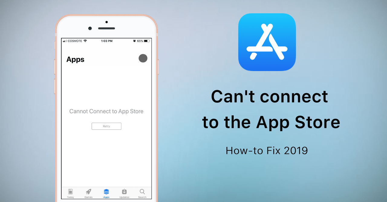 iPhone cannot connect to App store
