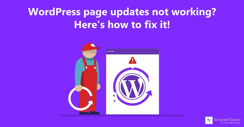 Wordpress page update failed