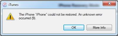 iPhone 5s error 9