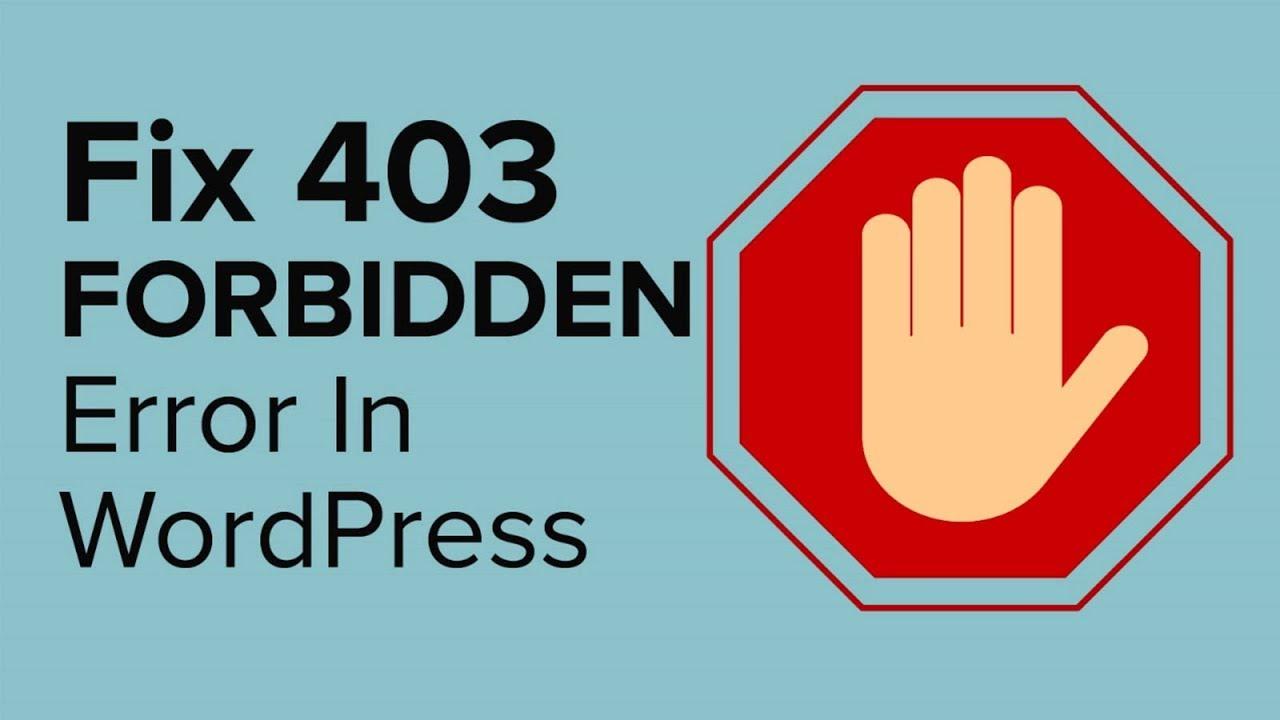 403 Forbidden Wordpress