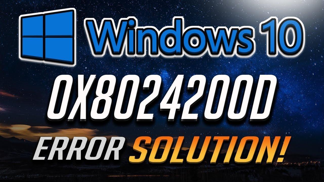 Error 0x8024200D